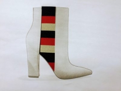 Elegant boot with French Flag colored elastic