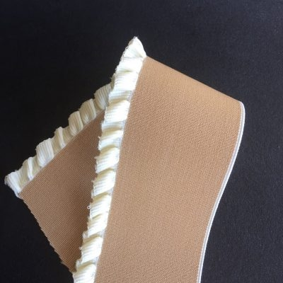 Brown and Raw White fringes Elastic